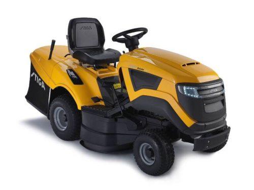 Modernus žolės pjovimo traktoriukas