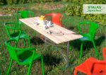 Tvirtos konstrukijos laukinis stalas už žemą kainą