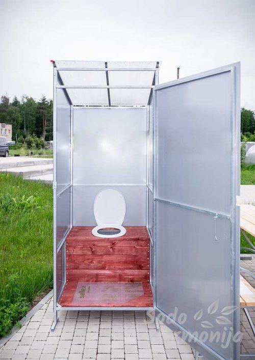 Lauko tualetas iš metalinės konstrukcijos